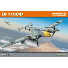 Eduard 1/72 Немецкий истребитель-бомбардировщик Messerschmitt Bf.110C/D (ProfiPACK). № 7081