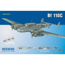 Eduard 1/72 Немецкий истребитель-бомбардировщик Messerschmitt Bf.110C (Weekend edition). № 7426
