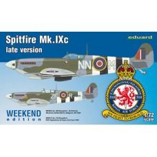 Eduard 1/72 Британский истребитель Spitfire Mk. IXc late version (Weekend edition). № 7431