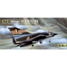 Heller 1/72 Французский истребитель Dassault Mirage III E/R/5/ BA. № 80323