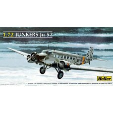 Heller 1/72 Hемецкий военно-транспортный самолёт Junkers Ju.52/3mg4e «Tante Ju». № 80380