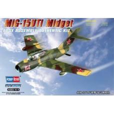 """Hobby Boss 1/72 Советский учебно-тренировочный самолёт МиГ-15УТИ """"Midget"""". № 80262"""