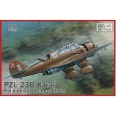 "IBG Models 1/72 Польский легкий бомбардировщик PZL.23B ""Karas"" (Late production). № 72507"