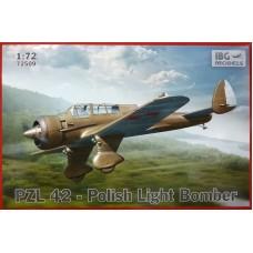 IBG Models 1/72 Польский опытный легкий бомбардировщик PZL P-42. № 72509