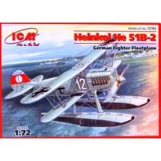 ICM 1/72 Немецкий поплавковый истребитель Heinkel He.51B-2. № 72192