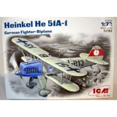 ICM 1/72 Немецкий истребитель Heinkel He.51A-1. № 72193