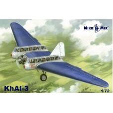 MikroMir 1/72 Советский пассажирский планеролет ХАИ-3. № 72-014