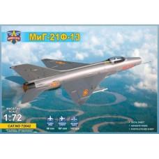 Modelsvit 1:72 Советский фронтовой истребитель МиГ-21Ф-13. № 72042