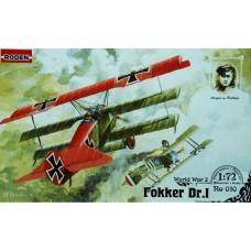 Roden 1/72 Германский истребитель Fokker Dr.I. №  010