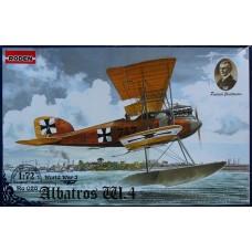 Roden 1/72 Германский поплавковый самолет Albatros W.4 early. №  028