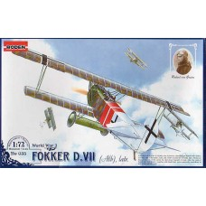 Roden 1/72 Германский самолет Fokker D.VII Alb late. №  035