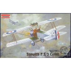 Roden 1/72 Британский истребитель-биплан Sopwith F.1/3 Comic. №  051