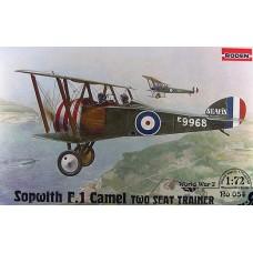 Roden 1/72 Британский истребитель-биплан Sopwith F.1 Camel, двухместный тренировочный вариант. №  054