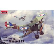 Roden 1/72 Французский истребитель-биплан Nieuport 27c1. № 061