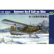 Trumpeter 1/72 Советский лёгкий транспортный самолёт АН-2 на лыжах. № 01607