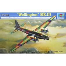 Trumpeter 1/72 Британский двухмоторный бомбардировщик Vickers Wellington Mk.III. № TRU_01627