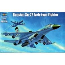 """Trumpeter 1/72 Советский истребитель Су-27 """"Flanker B"""" ранний. № 01661"""