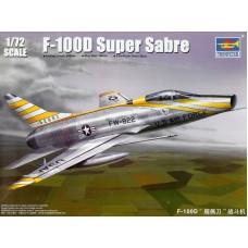 Trumpeter 1/72 Американский сверхзвуковой истребитель-бомбардировщик North American F-100D Super Sabre. № 01649