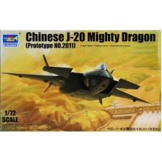 Trumpeter 1:72 Китайский истребитель пятого поколения Chengdu  J-20 Mighty Dragon (Prototype No.2011). № 01665