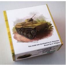 Zebrano 1/100 Советский легкий плавающий танк Т-40 с 20-мм пушкой ШВАК-Т. № 100020