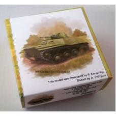 Zebrano 1/100 Советский легкий плавающий танк Т-40 с пулеметом ДШК. № 100021