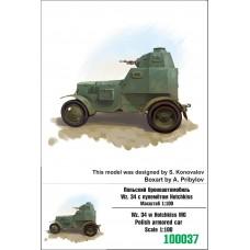 Zebrano 1/100 Польский бронеавтомобиль Wz.34 с пулеметом Hotchkiss. № 100037