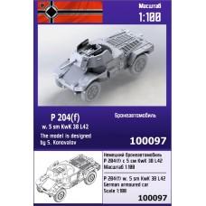 Zebrano 1/100 Немецкий бронеавтомобиль Panzerspahwagen P204 (f) с 50 мм орудием KwK 38 L42. № 100097