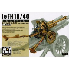 AFV Club 1/35 Немецкая 105 мм лёгкая полевая гаубица leFH 18/40. № AFV_AF35089
