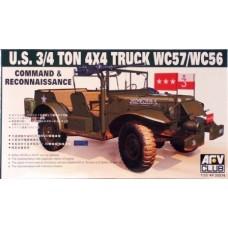 AFV Club 1/35 Американский внедорожник 3/4-тонный 4x4 Truck WC57/WC56. № AF35S16