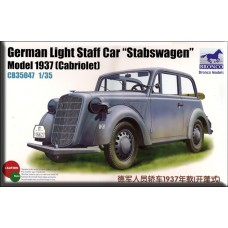 Bronco 1/35 Немецкий лёгкий штабной автомобиль Stabswagen OL38. № BRO_CB35047