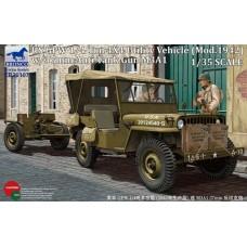 Bronco 1/35 Американский военный внедорожник GPW (мод. 1942 г.) с пушкой М3А1. № CB35107