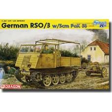 Dragon 1/35 Немецкий гусеничный многоцелевой тягач RSO/03 с противотанковой пушкой 5cm Pak 38. № DRA_6684