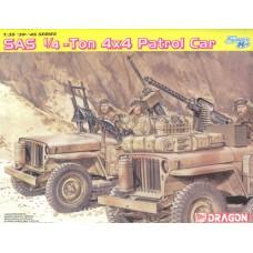 Dragon 1/35 Британская патрульная машина 1/4 тонны 4х4, подразделения SAS (и экипаж). № 6745