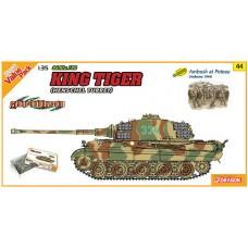 Cyber Hobby 1/35 Немецкий тяжелый танк Sd.Kfz. 182 King Tiger Henschel Turret с набором пехоты (Ambush at Poteau, Ardennes 1944). № CYB_9144