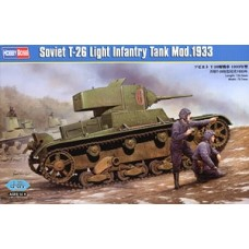 Hobby Boss 1/35 Советский лёгкий пехотный танк Т-26 модификации 1933 года. № 82495