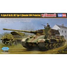 Hobby Boss 1/35 Немецкий тяжёлый танк Pz.Kpfw. VI Sd.Kfz. 181 Tiger II (Henschel 1944 Production) w/ Zimmerit. №  84531