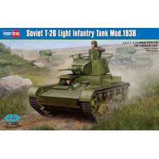 Hobby Boss 1/35 Советский лёгкий пехотный танк Т-26 модификации 1938 года. № 82497
