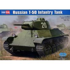 Hobby Boss 1/35 Советский лёгкий танк поддержки пехоты Т-50. № 83827