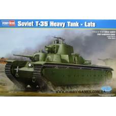 Hobby Boss 1/35 Советский пятибашенный тяжёлый танк Т-35 (поздний, с коническими башнями). № 83844
