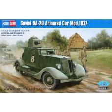 Hobby Boss 1/35 Советский лёгкий бронеавтомобиль БА-20 (1937 года). № 83882