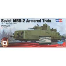 Hobby Boss 1/35 Советский бронепоезд МБВ-2, поздняя версия, с орудиями Ф-34 в башнях от Т-28. № 85514