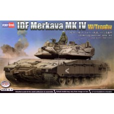Hobby Boss 1/35 Merkava Mk IV w/Trophy, основной боевой танк Армии обороны Израиля. № 84523