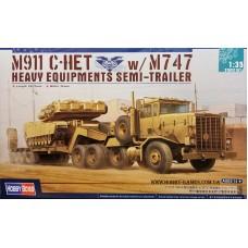 Hobby Boss 1/35 Американский тягач M911 C-HET с прицепом m747. № HOB_85519