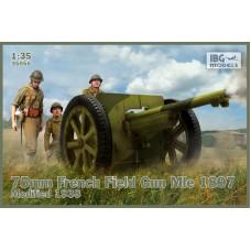 IBG Models 1/35 Французское полевое орудие 75mm Mle 1897, Mod.1938. № 35056
