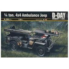 Italeri 1/35 Американский медицинский автомобиль  Jeep Willys MB. № 326