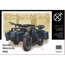 Master Box 1/35 Немецкий мотоцикл BMW R75 Второй Мировой войны. № 3528