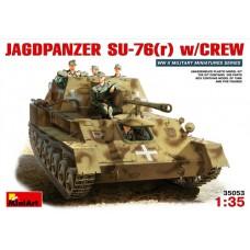 MiniArt 1/35  Немецкая САУ Jagdpanzer(r) SU-76 с экипажем. № 35053