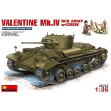MiniArt 1/35 Английский лёгкий пехотный танк Valentine MkIV (поставленный по ленд-лизу в СССР), с экипажем. № MIA_35092