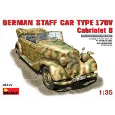 MiniArt 1/35 Немецкий лёгковой автомобиль Mercedes-Benz Type 170V Cabriolet B. № 35107
