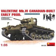 MiniArt 1/35 Английский лёгкий пехотный танк Valentine MkVI (канадского производства, ранней серии) с экипажем. № MIA_35123